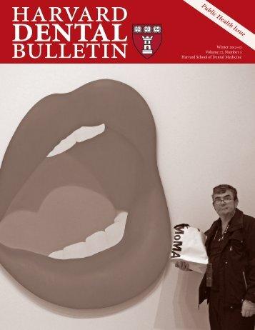 Public Health Issue - Harvard School of Dental Medicine