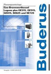 Gas-Brennwertkessel Logano plus GE315, GE515 ... - Buderus