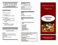 Brochure - Vegetarian Eating - Phillips Exeter Academy
