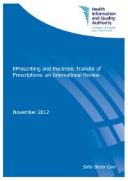EPrescribing and Electronic Transfer of Prescriptions - hiqa.ie
