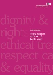 Young people in adult mental health wards - Mental Welfare ...