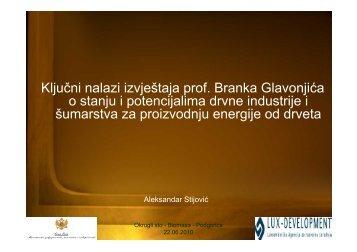 Ključni nalazi izvještaja prof. Branka Glavonjića o stanju i ...