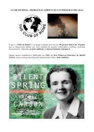 Artigo 350 - Clube de Roma - Problemas Ambientais - Outorga.com.br