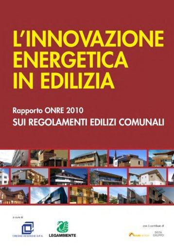 Rapporto ONRE 2010 - Legambiente
