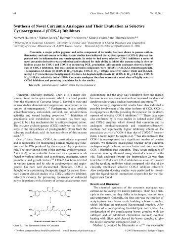 Chem Pharm Bulletin - Synthesis of Novel Curcumin Analogues