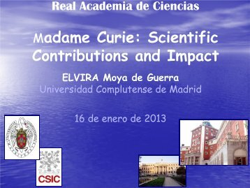 Madame Curie: Scientific Contributions and Impact