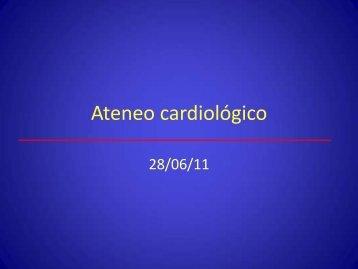 Ateneo IAo e IM severas - Servicio de Cardiología