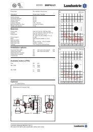 Datasheets BWP42 series 50 c/s - Landustrie