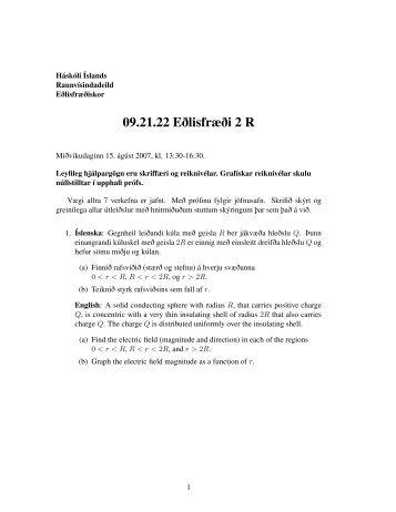 Haustpróf R 2007 - Háskóli Íslands