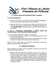 uso de los sellos notariales (seco y húmedo) - Poder Judicial