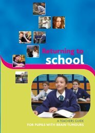 Returning to school – a teachers guide for pupils with brain tumours