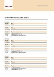 Technické detaily a varianty produktů Příslušenství v přehledu