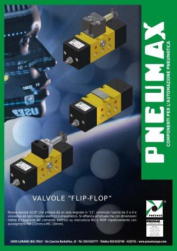 """VALVOLE """"FLIP-FLOP"""" - Pneumax"""