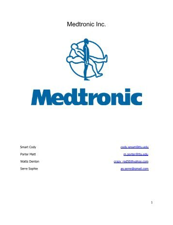 medtronic inc United states tax court washington, dc 20217 medtronic, inc & consolidated ) sd subsidiaries, )) petitioner(s), )) v ) docket no 6944-11) commissioner of internal .