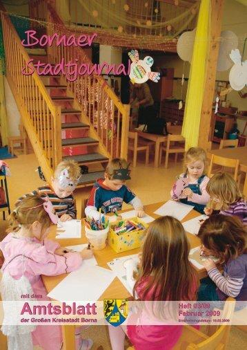 Amtsblatt der Großen Kreisstadt Borna 03/09 - Druckhaus Borna