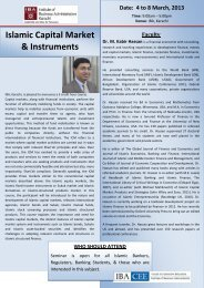 Islamic Capital Market & Instruments - Institute of Business ...