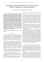 The Assessment of Applications for Extension of Time Claims ... - IJET