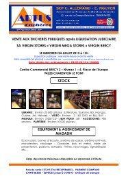 mercredi 24 juillet 2013 - artus Enchères