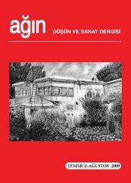 düşün ve sanat dergisi temmuz-ağustos 2009 - Ankara Ağın Derneği