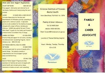 Family & Carer Advocate brochure - Forensicare