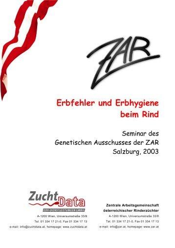 Erbkrankheiten beim Rind - Zentrale Arbeitsgemeinschaft ...