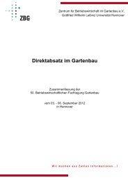 Direktabsatz im Gartenbau - Zentrum für Betriebswirtschaft im ...