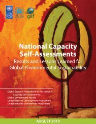 National Capacity Self-Assessments - Global Environment Facility