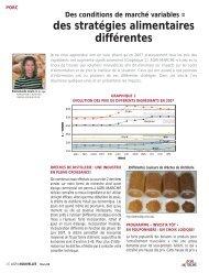des stratégies alimentaires différentes - Agri-Marché