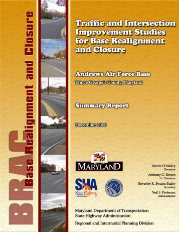 Traffic and Intersection Improvement Study at Andrews Air Force Base