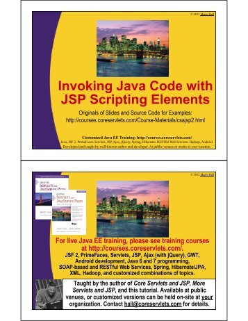 Invoking Java Code with JSP Scripting Elements - Java Programming