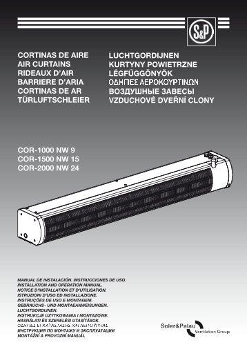 cor-1000 nw 9 cor-1500 nw 15 cor-2000 nw 24 cortinas de aire air ...