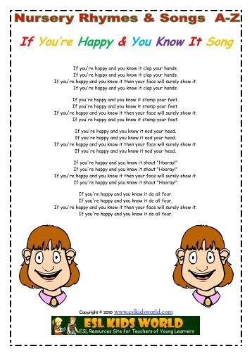Nursery Songs I Esl Kids World