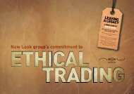 New Look Ethical Trade - Permira