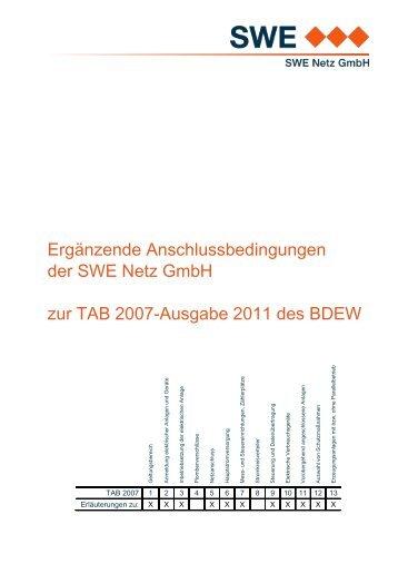 Ergänzung zu den TAB 2007 - Ausgabe 2011 - Stadtwerke Ettlingen ...