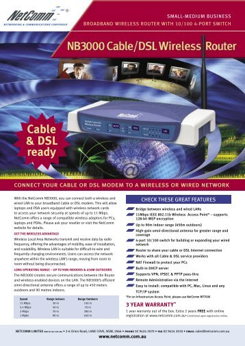 Cable & DSL ready - I.Store
