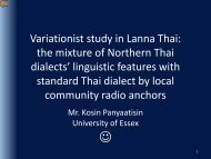 Code mixing in Lanna Thai: the mixture of Northern Thai dialects ...