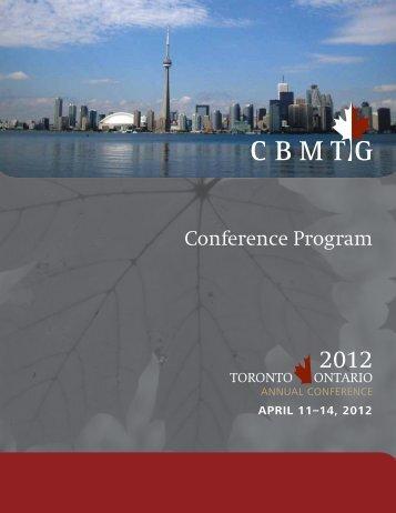 Conference Program - CBMTG
