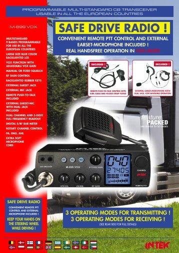 BROCHURE M-899 VOX Front (Page 1) - Intek