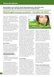 Marketingplanung ganz praktisch – Sie haben die Wahl! - greenworks