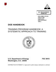 DOE Handbook Training Program Handbook - American Public ...
