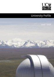 Profiile 2006-2008 - University of Canterbury