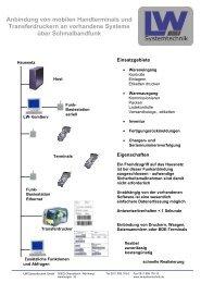 Anbindung von mobilen Handterminals und Transferdruckern an ...