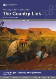 The Country Link: December 2009 - WA Country Health Service
