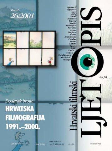 Hrvatski filmski ljetopis, broj 26 (2001) - Hrvatski filmski savez