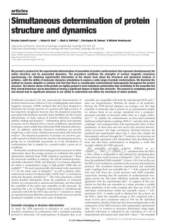 Simultaneous determination of protein structure and dynamics