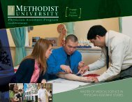 to download the Physician Assistant Program brochure! - Methodist ...