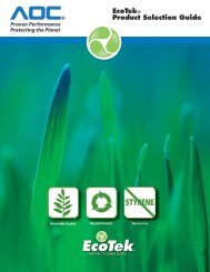 EcoTek® Product Selection Guide - AOC