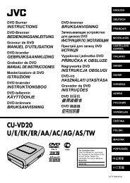 CU-VD20 U/E/EK/ER/AA/AC/AG/AS/TW - JVC