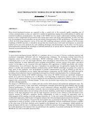 electromagnetic modelling of rf mems structures - URSI