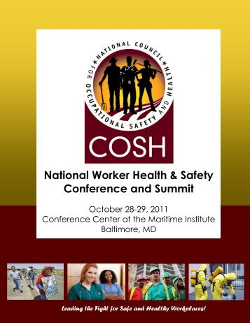 2011 National COSH Health & Safety Conferenc - National Council ...